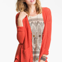 Free People SMARTY CARDI Cherry Red Cardigan 5 Star Reviews SOLD OUT AT $108 NWT