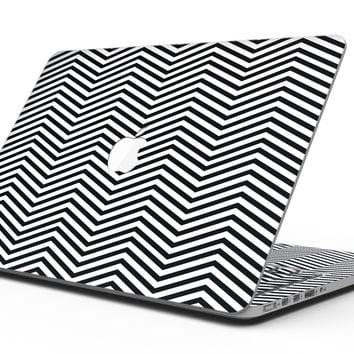 Slate Black Chevron with Translucent Backing - MacBook Pro with Retina Display Full-Coverage Skin Kit
