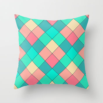 Candy Squares Throw Pillow by Shannon Clark Photo & Art