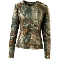 Cabela's Women's OutfitHER™ Active Series V-Neck Long-Sleeve Knit Shirt : Cabela's