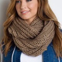 Emerson Knit Scarf - Taupe