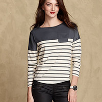 Tommy Hilfiger Top, Long-Sleeve Striped Boat-Neck - Womens - Macy's