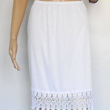 Venice Lace Skirt Extender Half Slip Dress Extender: Black or White-made in USA