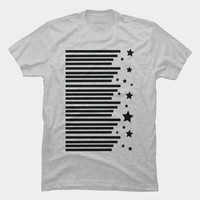 Stripes & Stars T Shirt By Bonvoyage Design By Humans