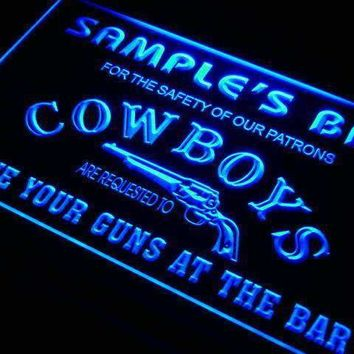 Personalized Western Cowboy Bar LED Neon Light Sign
