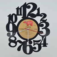 Vinyl Record Wall Clock (artist is Eric Clapton)