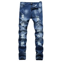 Men's Fashion Slim Men Denim Jeans [127701778461]