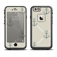 The Tan Vintage Solid Color Anchor Linked Apple iPhone 6/6s LifeProof Fre Case Skin Set