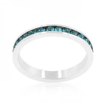Stylish Stackables With Turquoise Crystal Ring (size: 05) (pack of 1 ea)