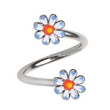 316L Stainless Steel Daisy Flower Twist Jewelry