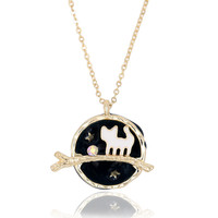 Starry Night Cat Pendant Necklace