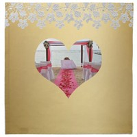 Rose Petals On The Red Carpet Heart Napkin