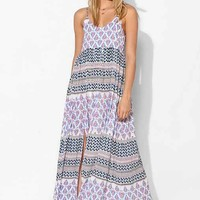Somedays Lovin Meadow Block-Print Maxi Dress- Purple Multi