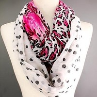 Scarves by Justbella's Leopard Fuchsia Infinity Scarf