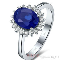Sapphire rings, gold-plated sterling silver engagement ring Prince William PT950 India