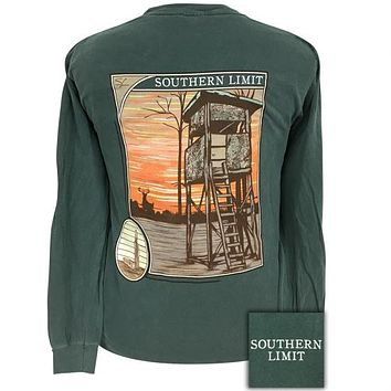 Southern Limits Deer Stand Unisex Comfort Colors Long Sleeve T-Shirt