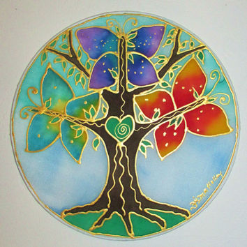 The Tree of Transformation, Tree of life, mandala art, butterly mandala, spiritual art,new age, metaphysical, meditation art