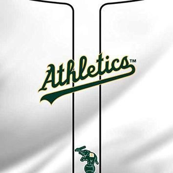 MLB Oakland Athletics iPad Mini 4 Skin - Oakland Athletics Home Jersey Vinyl Decal Ski