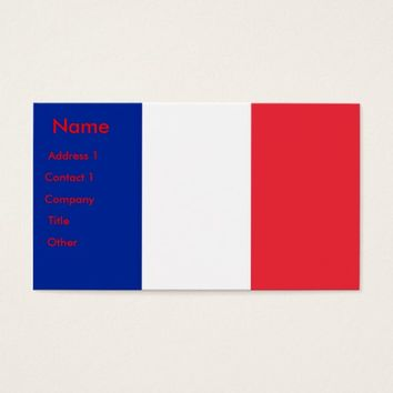 Business Card with Flag of France