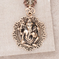 Bronze Ganesh Layered Necklace