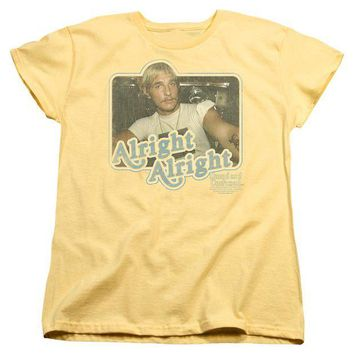 ac NOOW2 Dazed And Confused - Alright Alright Short Sleeve Women's Tee