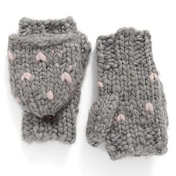 Rebecca Minkoff Heart Stitch Pop Top Mittens | Nordstrom
