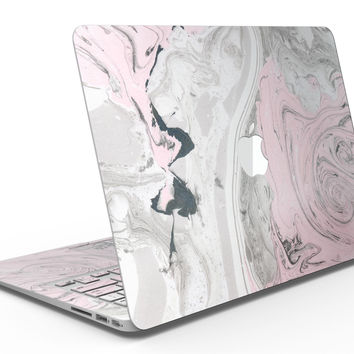 Mixtured Pink and Gray Textured Marble - MacBook Air Skin Kit