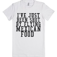 Flying Mexican Food-Female White T-Shirt
