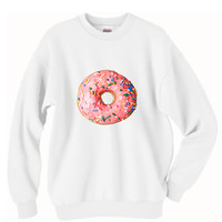 Pink Donut Print Tumblr Oversized Sweater