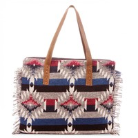Sole Society Beckett Fabric Tote With Fringe Detail