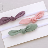 Thin TOP KNOT Headband Bow Headband You PICK Toddler Headband Set Headband Baby Bow Headband Knot Headband