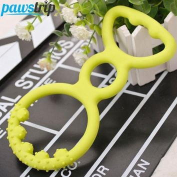 Soft Rubber Ring Design Tooth Cleaning Chew Toy