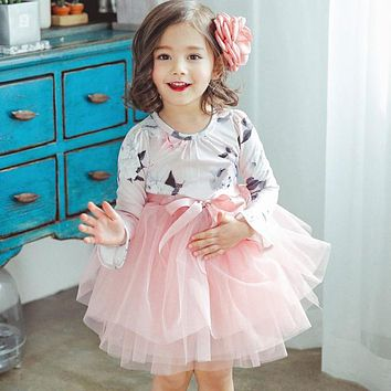 Fancy Baby Dress For Girl Children Clothing Kids Party Wear Clothes For Girl Wedding Full  Infant 3-8 Year Birthday Outfits