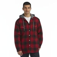 Men's Hooded Flannel Shirt Jacket - Plaid