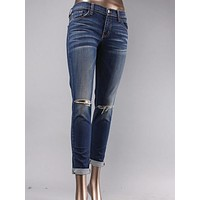 Flying Monkey Knee Rip Boyfriend Jean