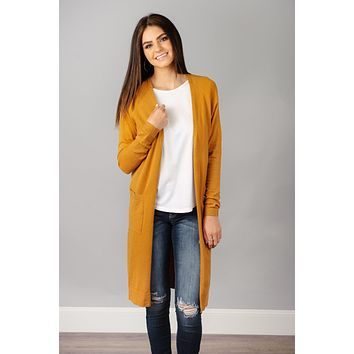 Side Slit Sweater Cardigan