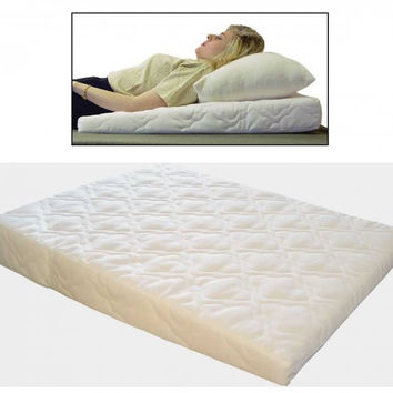 "Acid Reflux Wedge Pillow (White) (5""H x 26""W x 32""D)"