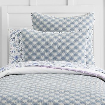 Hazel Jacquard Heart Quilted Bedding