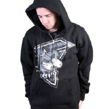 Famous Stars & Straps Famous Gasser Mens Zip-up Hoodie in Black Guys Outerwear