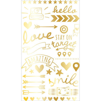 Project Life Gold Foil Rub Ons