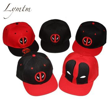 Deadpool Dead pool Taco [Lymtm] Unisex Cotton Outdoor Anime Comic Marvel  Snapback Summer Hip Hop Embroidery Cap Hat Baseball Cap For Men Women AT_70_6