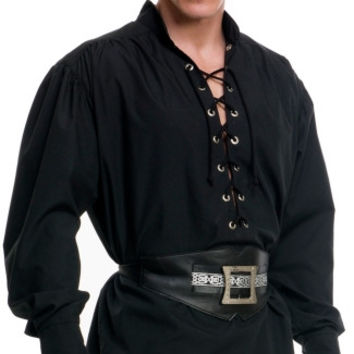Mens Eyelet Pirate Shirt
