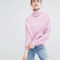 Sportmax Code Donna Pink Rollneck Sweater at asos.com