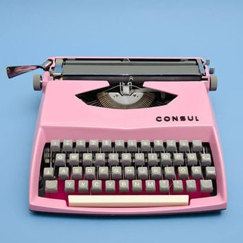 PINK MANUAL TYPEWRITER gift for girl bridal gift shabby chic home decoration 21st birthday gift working typewriter pink vintage typewriter