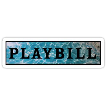 'Playbill- Under the Sea' Sticker by abbiequail