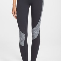 Women's Beyond Yoga Curved Space Dye Panel Leggings