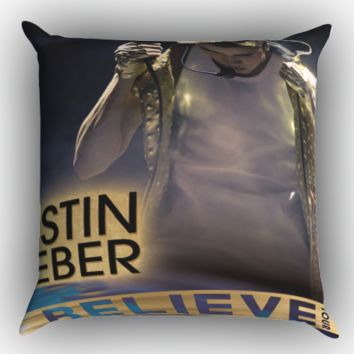 Justin Bieber Believe Tour Zippered Pillows  Covers 16x16, 18x18, 20x20 Inches
