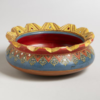 Painted Terracotta Divya Bowl - World Market