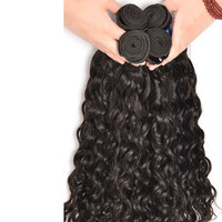 4 pc Bundle Natural Wet And Wavy Curly Virgin Brazilian Human Hair