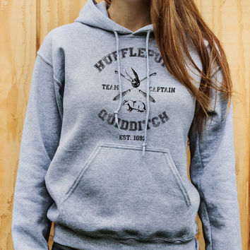 Harry Potter inspired Hufflepuff Quidditch Hoodie